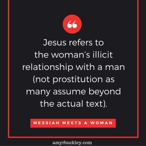 The apostle John does not give many details about the Samaritan woman's story. However, the culture of her day can tell us some things. The surrounding community would have tolerated two, or maybe three, divorces.[